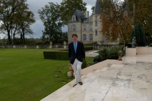 Philip at the Château Pichon Longueville in Bordeaux in 2003.