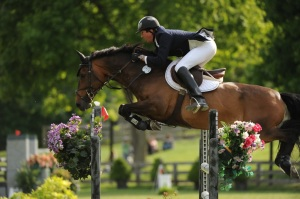 Philip aboard Firefly, three time Hampton Classic Amateur Owner Jumper Champion