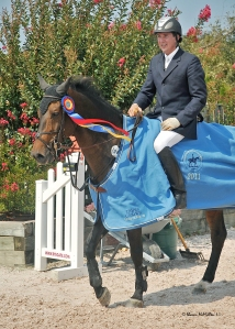 Philip Richter aboard Firefly, three time Hampton Classic Amateur Owner Jumper Champion.