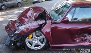 This Porsche is a total write off.