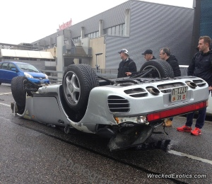 How do you wreck a 959 on a side street in downtown Zurich?