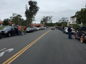 The car show in Rancho Santa Fe.