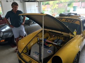 Hans checking out the 911 race car.