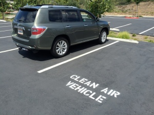 In SoCal eco friendly drivers have fringe benefits.