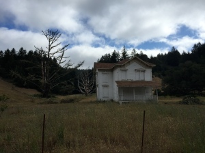 An abandoned farmhouse on Lucas Valley Road.
