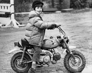 Philip on his Honda Z50 in 1977