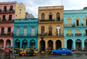 A typical downtown Havana scene