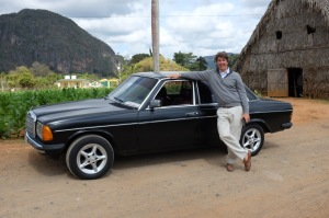 Philip with a late model Mercedes diesel