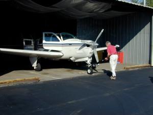 Max with his Beechcraft Bonanza A36 2005