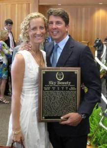 Philip and Sarah, Thoroughbred Hall of Fame ceremony Saratoga Springs 2013