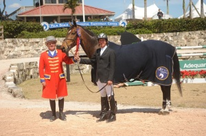 Philip with Ray Ray, Wellington Florida High Amateur Jumper Champion 2011
