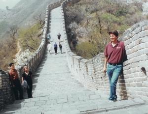 Philip at the Great Wall of China 2004