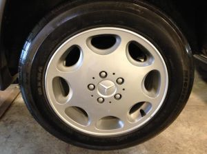Wheels have been completely refinished and restored.