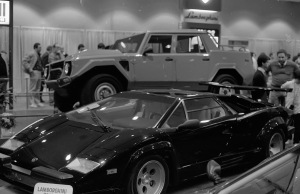 The Lamborghini LM002. These early monster SUV's are a hot item today!